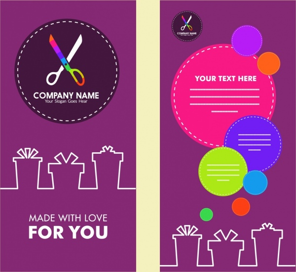 Flyer Design Craft Logo Style Colorful Circles Decoration Free