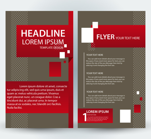 Flyer Template Design With Classical Style Free Vector In Adobe - Adobe illustrator flyer template
