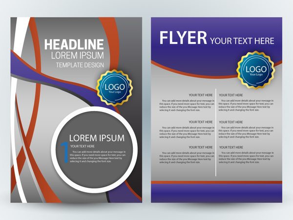 Flyer template design with colorful curves grey background free flyer template design with colorful curves grey background maxwellsz