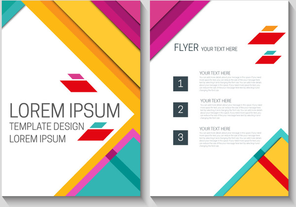 flyer template design with colorful modern style background free