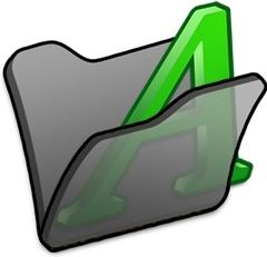 Folder black font1