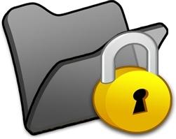 Folder black locked