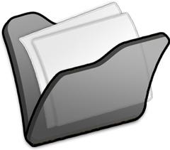 Folder black mydocuments
