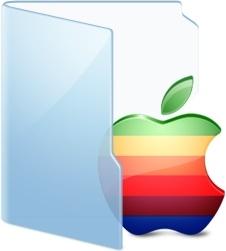 Folder Blue Apple