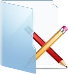 Folder Blue Apps