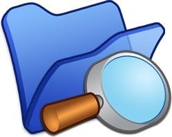 Folder blue explorer