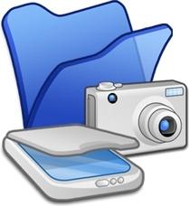 Folder blue scanners cameras