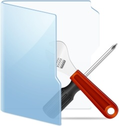 Folder Blue Tools