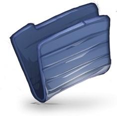Folder Dark Blue