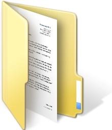 Folder document open