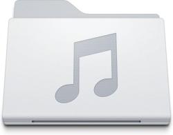Folder Music White