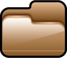 Folder Open Brown