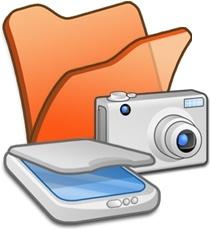 Folder orange scanners cameras