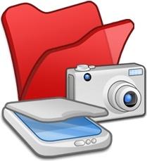 Folder red scanners cameras