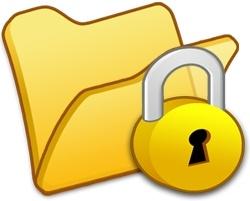 Folder yellow locked