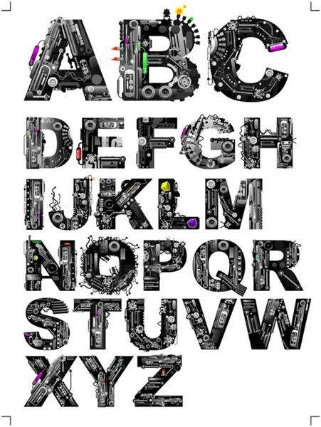 font design series 37 vector