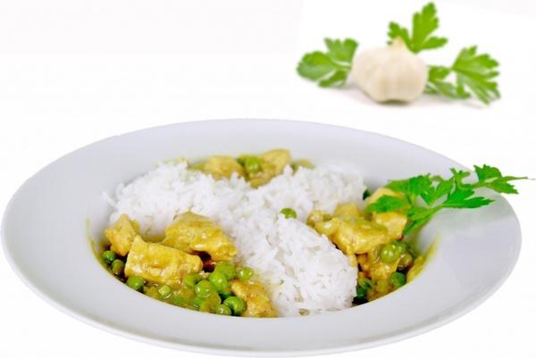 food rice peas
