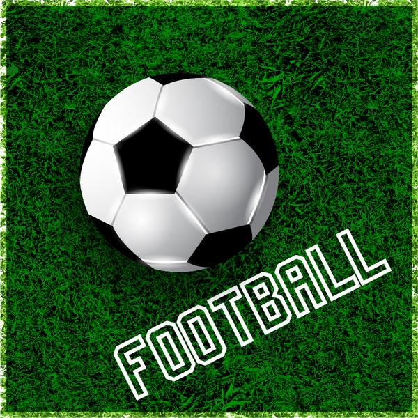 football on green grass design element