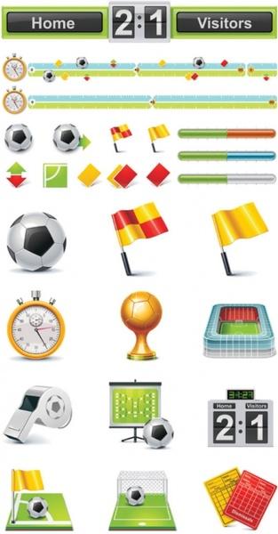 football theme icon vector
