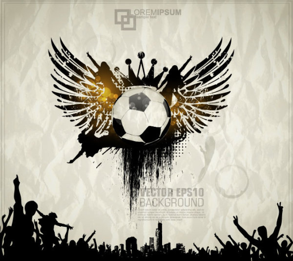 football theme poster vector