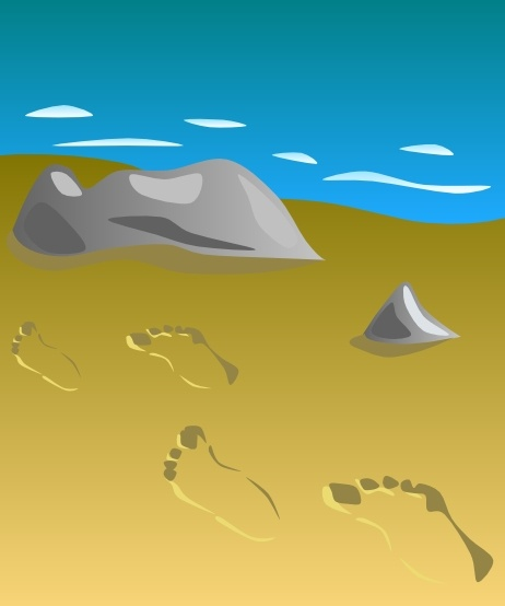 Footprints In Sand Clip Art Free Vector In Open Office