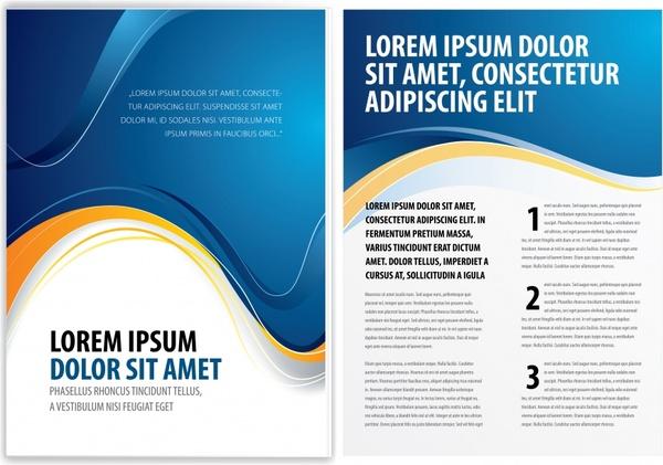 brochure templates elegant modern dynamic curves decor