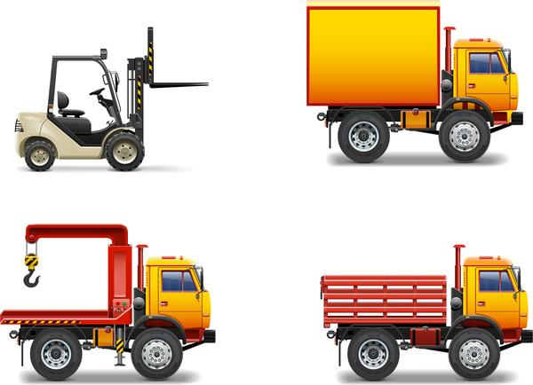 forklift crane truck