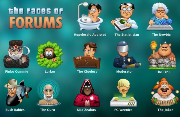 Forum Faces Icons 01 icons pack
