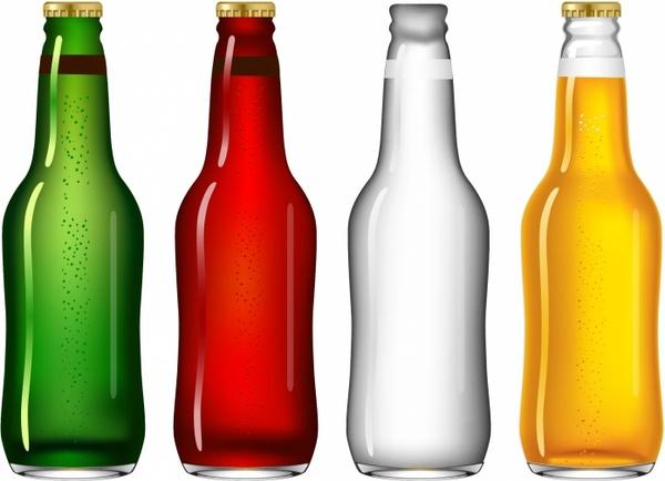 four beer bottles