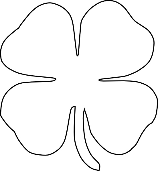 four leaf clover vector clip art free vector in open office drawing