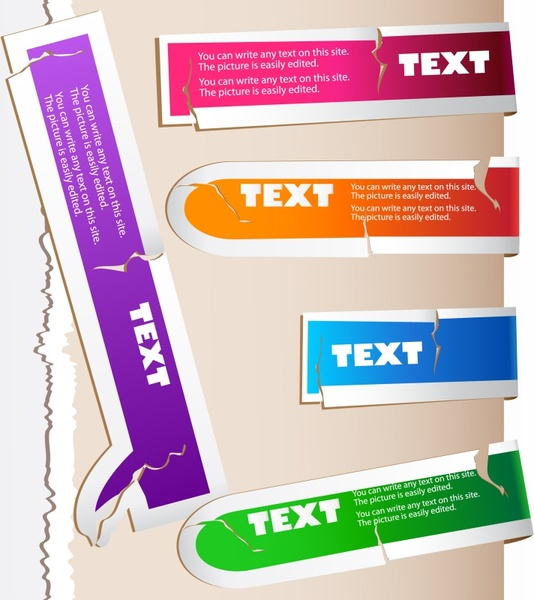 fracture textured color labels vector