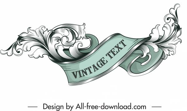 frame design element elegant vintage 3d swirled decor