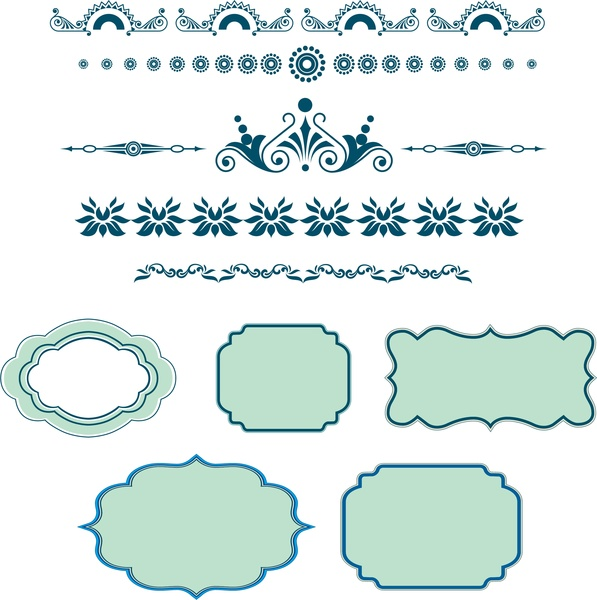 frames and border pattern collection in classical style