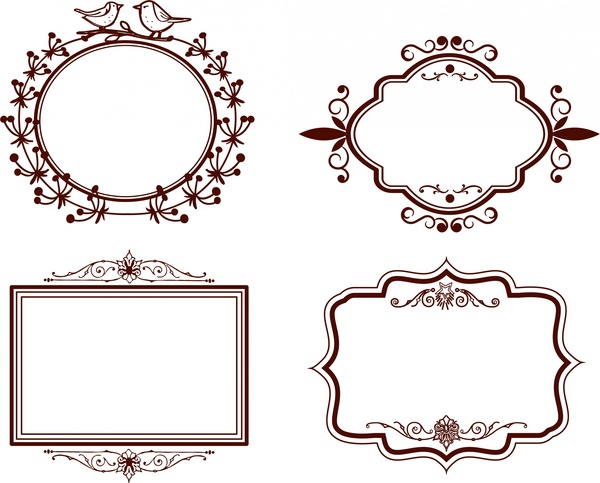 Frames design collection classical design in various shapes Free ...