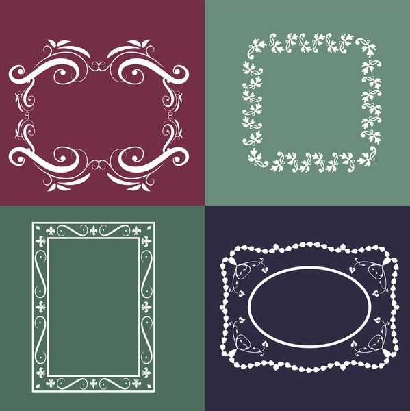 frames design collection various shaped classical decoration style