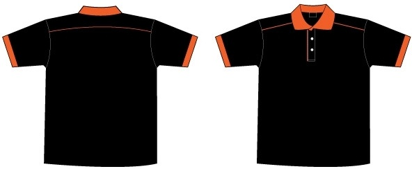 Free Black Orange Collar T Shirt Template Free Vector In Adobe