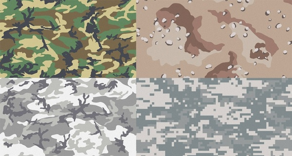 Free Camouflage Patterns for Illustrator & Photoshop Free