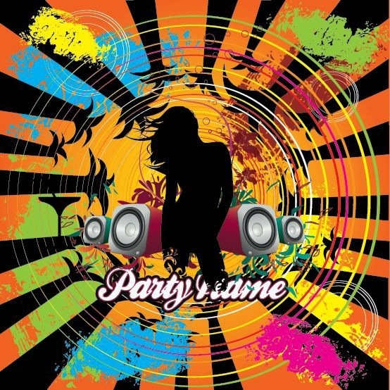 Free City Music Party Vector Illustration