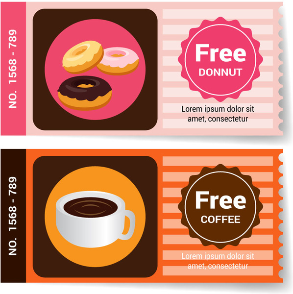 free coffee and donut banner