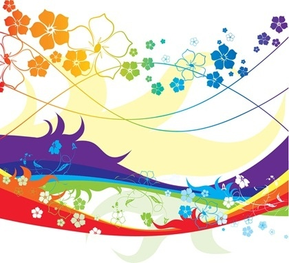 Free Colorful Flower Vector Illustration