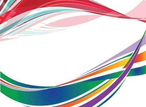 Free Colorful Wave Background Illustration