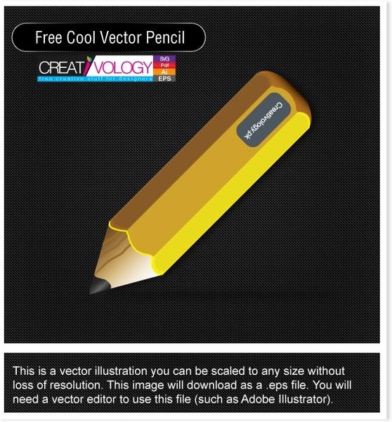 Pencil Advertising Background 3d Yellow Closeup Decor Free Vector