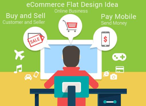 free ecommerce flat design ui ideas