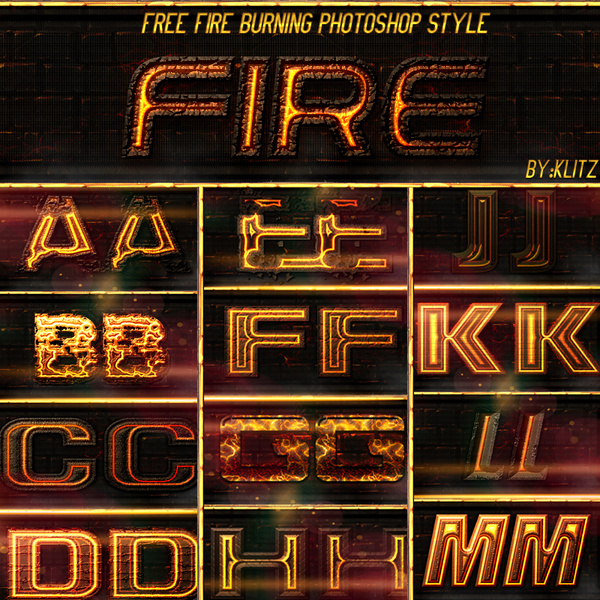 free fire style text effect