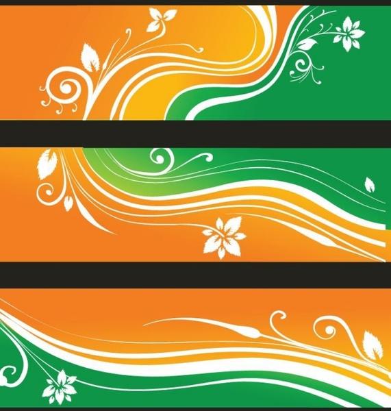 Free Flower Banners Vector Illustration