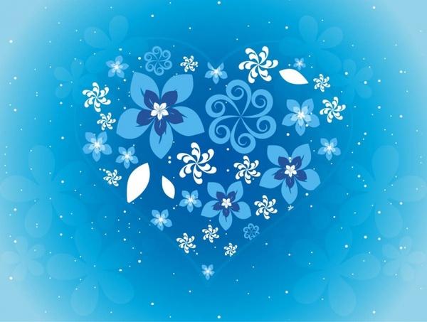 Free Flower Heart Vector Art