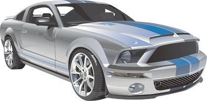 sports car design realistic colored style