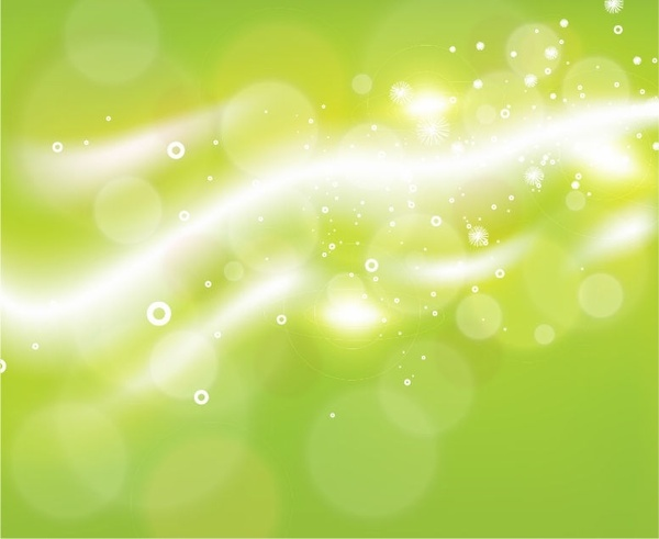 Free Green Bokeh Abstract Light Background Vector Illustration