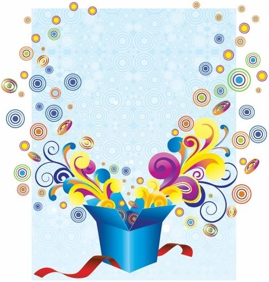 Free Groovy Gift Box Vector Illustration 86136KB