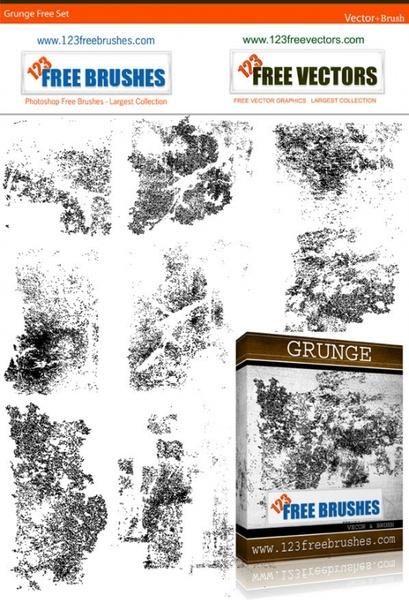 free grunge brush
